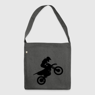 Motocross stunt - Shoulder Bag made from recycled material