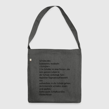 definition pupils - Shoulder Bag made from recycled material