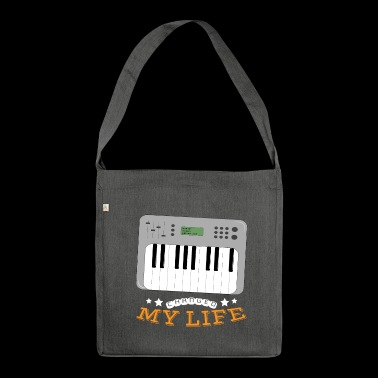 Synthesizer Changed My Life - Shoulder Bag made from recycled material