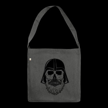 bearded darth vader - Schultertasche aus Recycling-Material