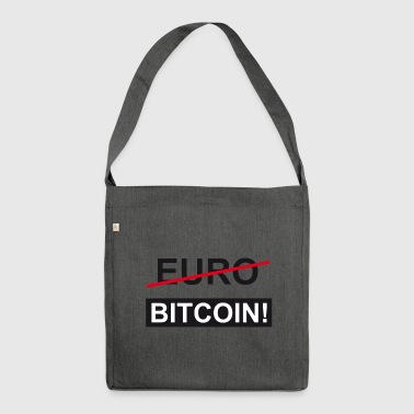 euro Bitcoin - Borsa in materiale riciclato