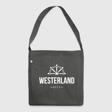 Sylt - Westerland - Schultertasche aus Recycling-Material