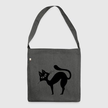 Black cat - Shoulder Bag made from recycled material
