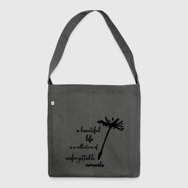 Dandelions sayings positive energy love typo - Shoulder Bag made from recycled material