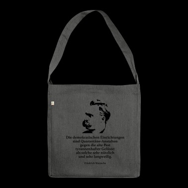 Nietzsche: The democratic institutions are - Shoulder Bag made from recycled material