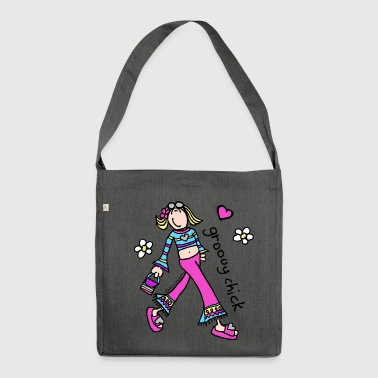 groovy chick walk - Shoulder Bag made from recycled material