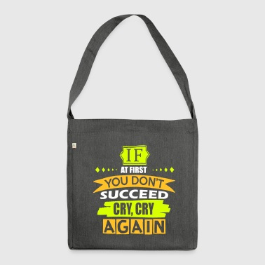 Cry Cry Again - Shoulder Bag made from recycled material