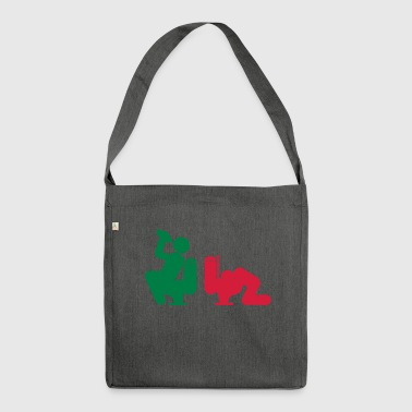 alcohol drink puppy vomit toilet wc i - Shoulder Bag made from recycled material