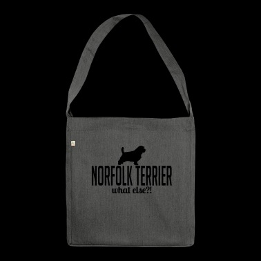 NORFOLK TERRIER what else - Schultertasche aus Recycling-Material