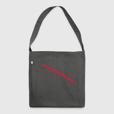 Red line - Shoulder Bag made from recycled material
