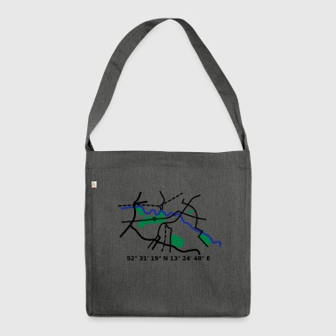 Berlin city map - Shoulder Bag made from recycled material