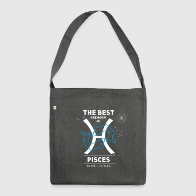 Pisces Horoscope Birth astrology gift - Shoulder Bag made from recycled material