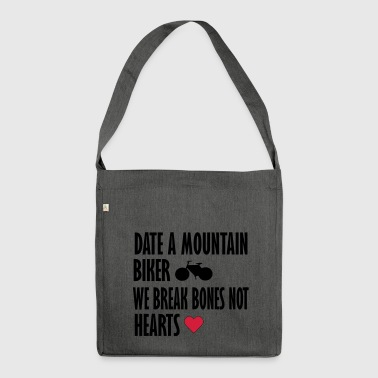 date a mountain biker - Shoulder Bag made from recycled material
