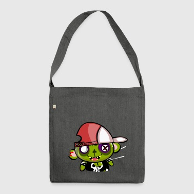Zombie hiphop - Schultertasche aus Recycling-Material