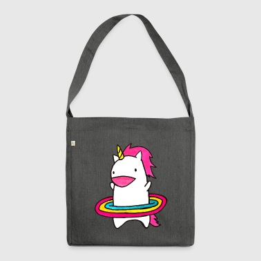 Hula Hop Unicorn - Shoulder Bag made from recycled material