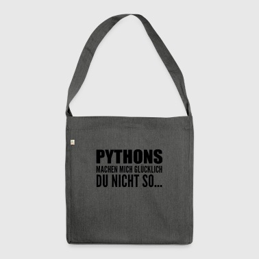 i love Reptil Python - Schultertasche aus Recycling-Material