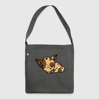 Sleepy Cat - Schultertasche aus Recycling-Material