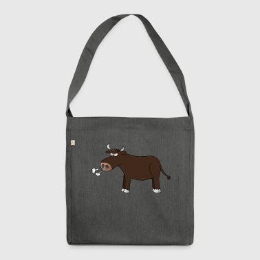 Bull bulls bulls bulls farm - Shoulder Bag made from recycled material