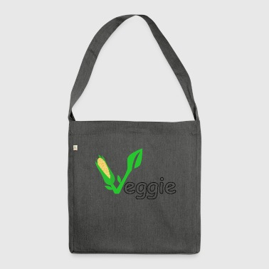 Veggie vegan vegetarian gift gift idea - Shoulder Bag made from recycled material