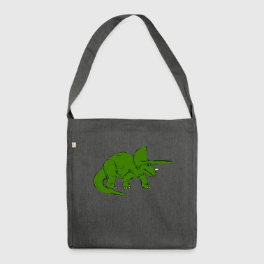 Dinosaur shirt for kids and teens - Shoulder Bag made from recycled material
