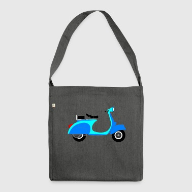Blue Scooter - Shoulder Bag made from recycled material