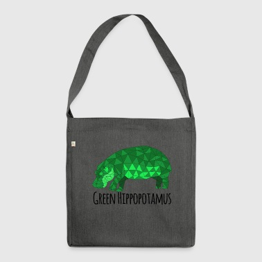 Green Hippopotamus - Shoulder Bag made from recycled material