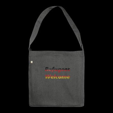 Refugees Welcome - Shoulder Bag made from recycled material
