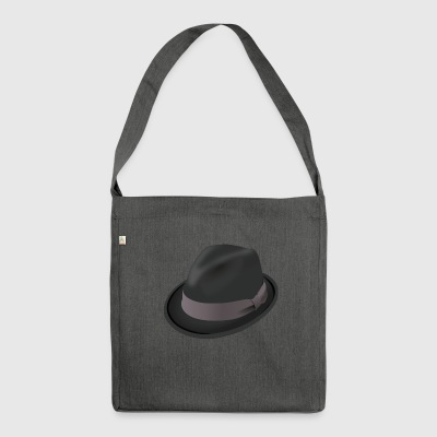 Gangster hat - Shoulder Bag made from recycled material
