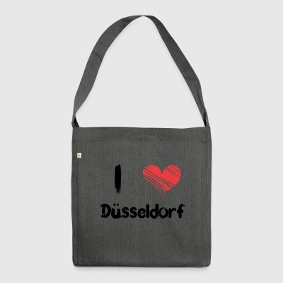 I love Dusseldorf - Shoulder Bag made from recycled material