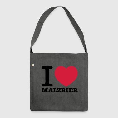 I love malt beer - Shoulder Bag made from recycled material