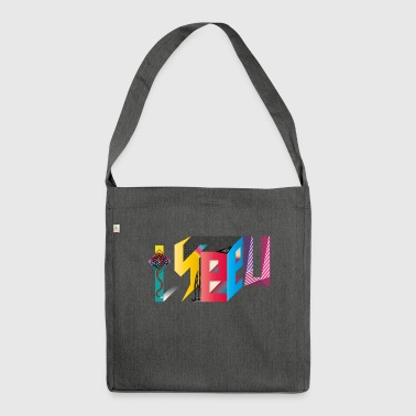 I U SEE - Schultertasche aus Recycling-Material