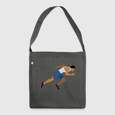 Athlete (sprinting) - Shoulder Bag made from recycled material