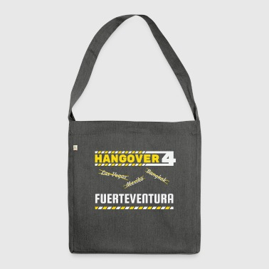 Hangover party Fuerteventura Spain travel - Shoulder Bag made from recycled material