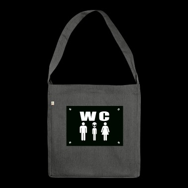 Alien WC - Shoulder Bag made from recycled material