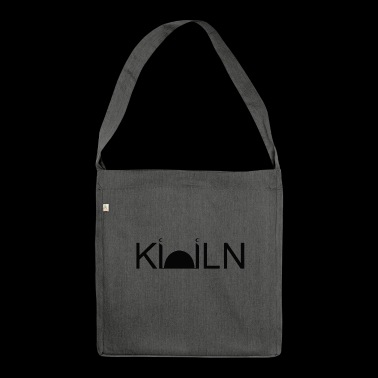 Logo Mosque Cologne painted black on white - Shoulder Bag made from recycled material