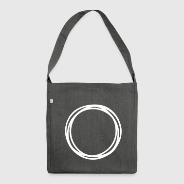 Circles and circles - Shoulder Bag made from recycled material