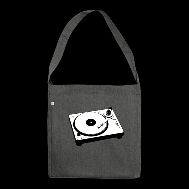 Turntable Turntable Vinyl Retro Gift - Shoulder Bag made from recycled material