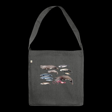Sperm whales and beaked whales - Sperm whales & Beaked whales - Shoulder Bag made from recycled material