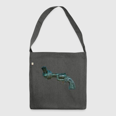 Revolver Pistole - Schultertasche aus Recycling-Material