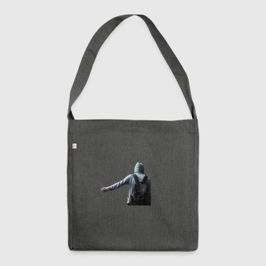 hitchhiking - man - Shoulder Bag made from recycled material