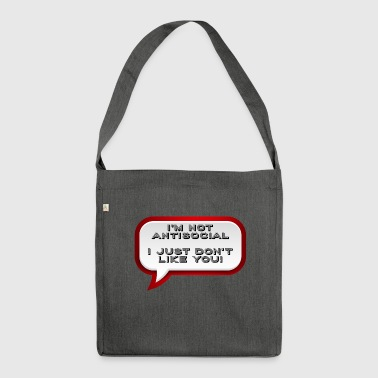 Antisocial - Shoulder Bag made from recycled material
