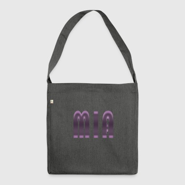 Name Mia First name Name day Birth Gift idea - Shoulder Bag made from recycled material