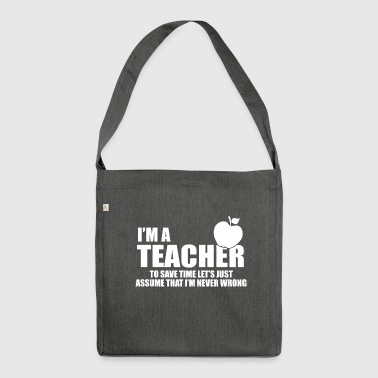 im a teacher - Shoulder Bag made from recycled material