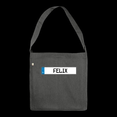 Felix name tag gift - Shoulder Bag made from recycled material
