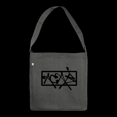 ACAB Graffiti Tag Style - Schultertasche aus Recycling-Material