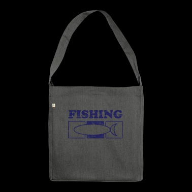 Fishing Fish Fishing Vintage - Shoulder Bag made from recycled material