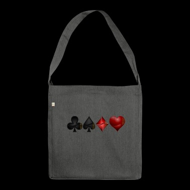 Cross pik check heart - Shoulder Bag made from recycled material