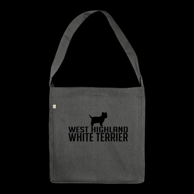 West Highland White Terrier hondenras - Schoudertas van gerecycled materiaal