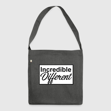icredibledifferent_logo - Sac bandoulière 100 % recyclé