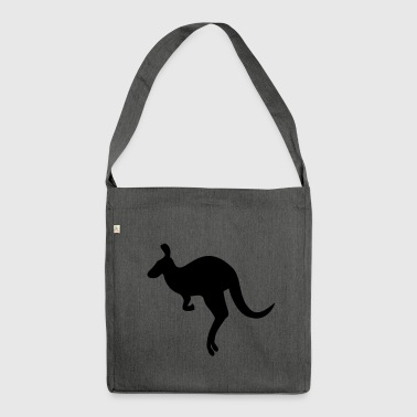 Kangaroo australia gift - Shoulder Bag made from recycled material